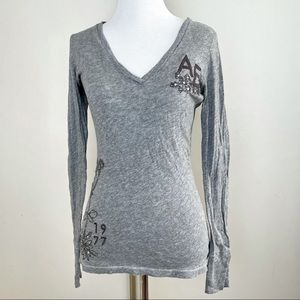 American Eagle Long Sleeve Tee with Sequins